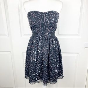 🎁 Daytrip Strapless Cheetah Print Padded Dress